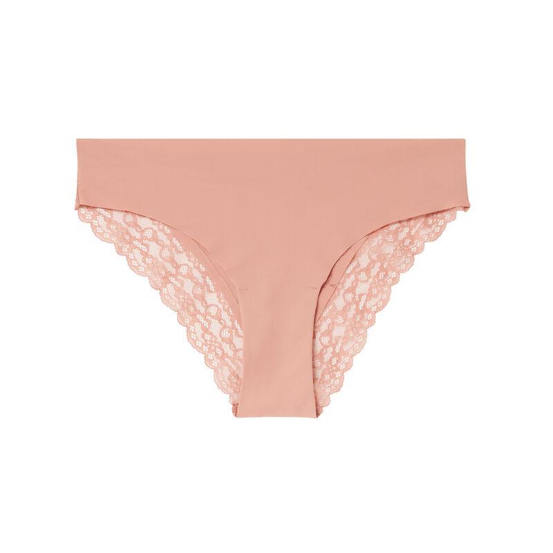 Braguita de microfibra y encaje - rosa nude;