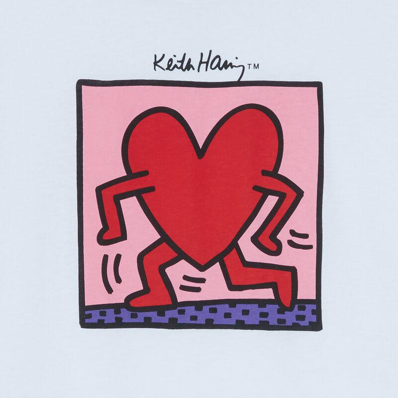 top con estampado de corazones Keith Haring - blanco;