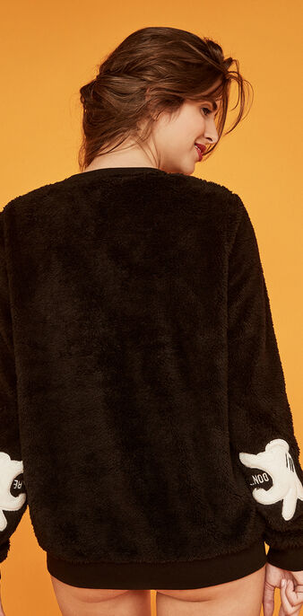 Sudadera de peluche negro mitiziz black.