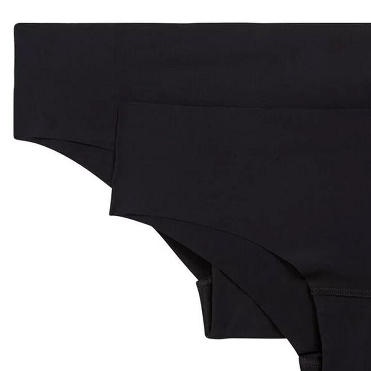 Juego de 2 braguitas culotte negras de microfibra;