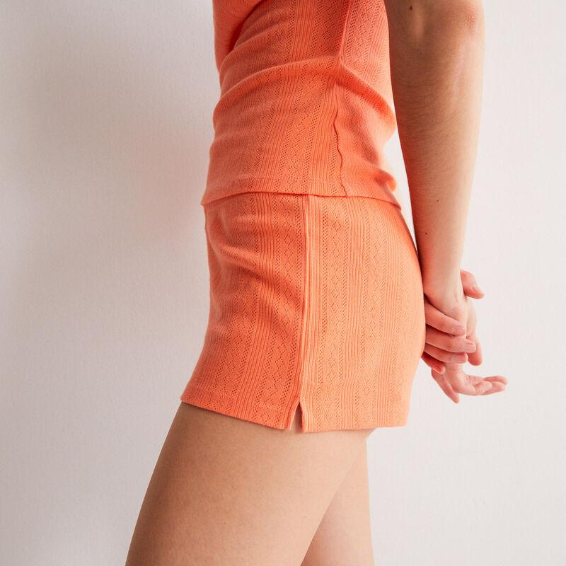 shorts lisos de punto con puntitos - rojo;