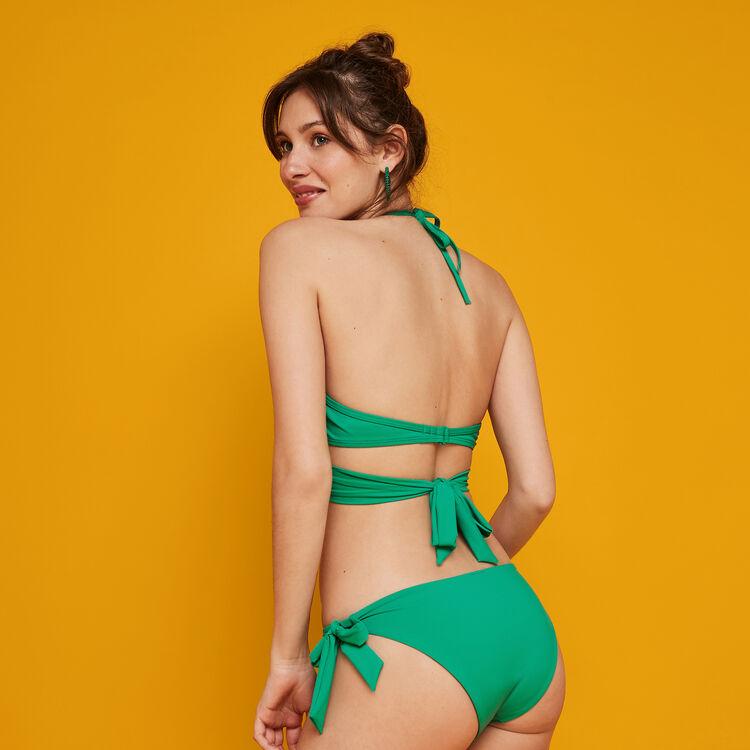 Top de bikini verde esmeralda Fusioniz;