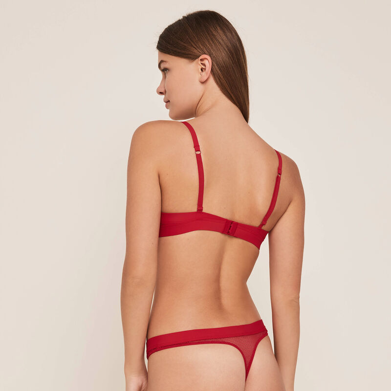 sujetador ultra push-up rojo appeliz;