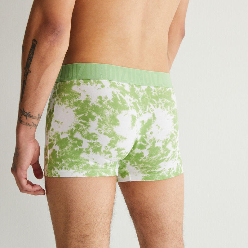 Bóxer de algodón con motivos tie and dye - verde;