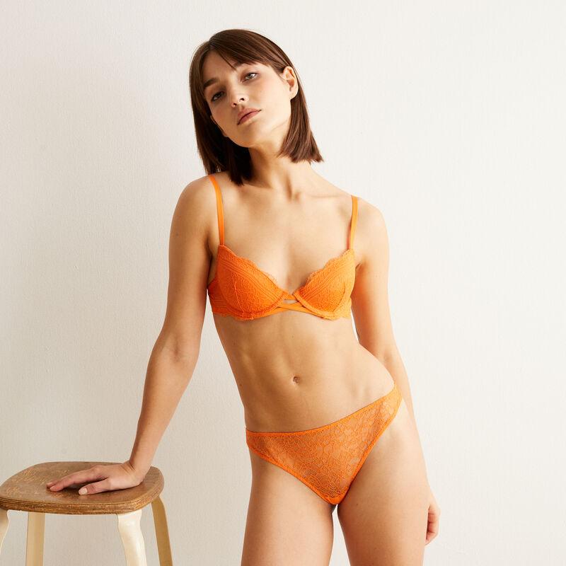 Braguita brasileña de encaje - naranja;
