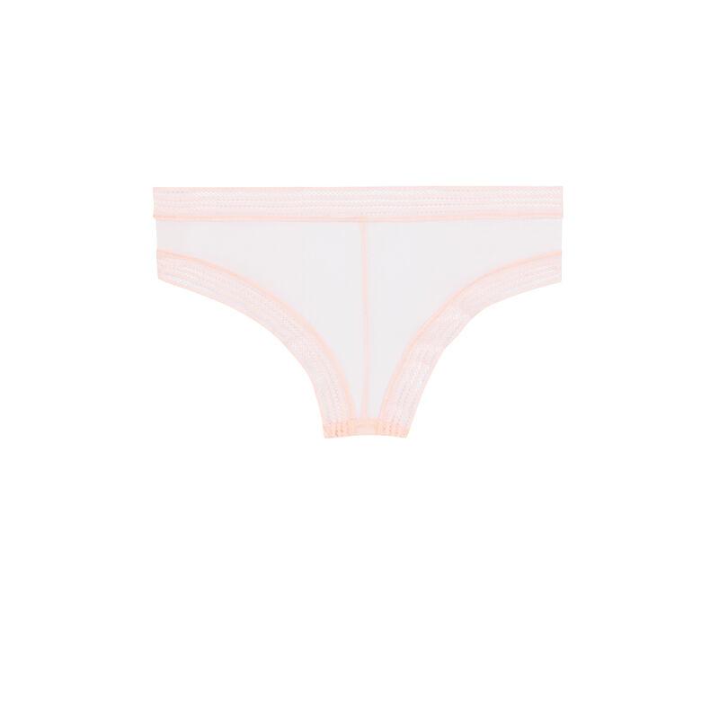 Braguita culotte de tul rosa pastel ;