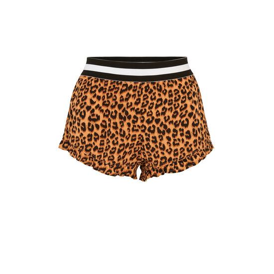 Short con estampado de leopardo realbetiz;