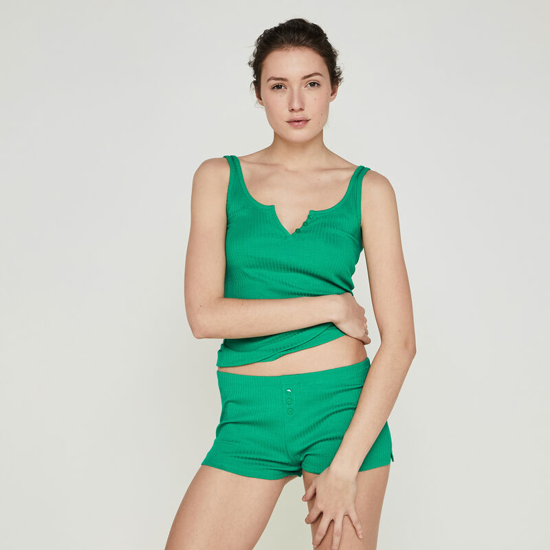 Shorts en verde esmeralda newdebidiz;
