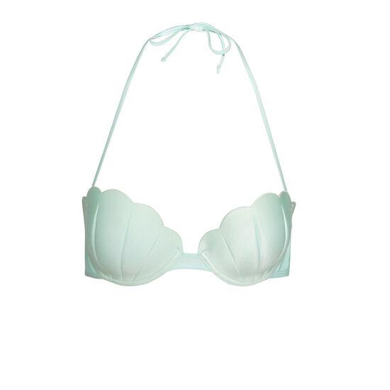 Parte de arriba de bikini verde claro polochoniz;