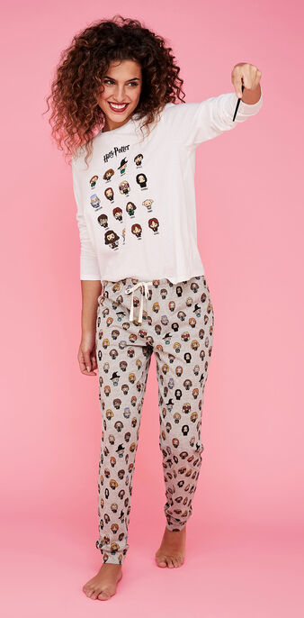 Conjunto de pijama blanco harrypiz white.