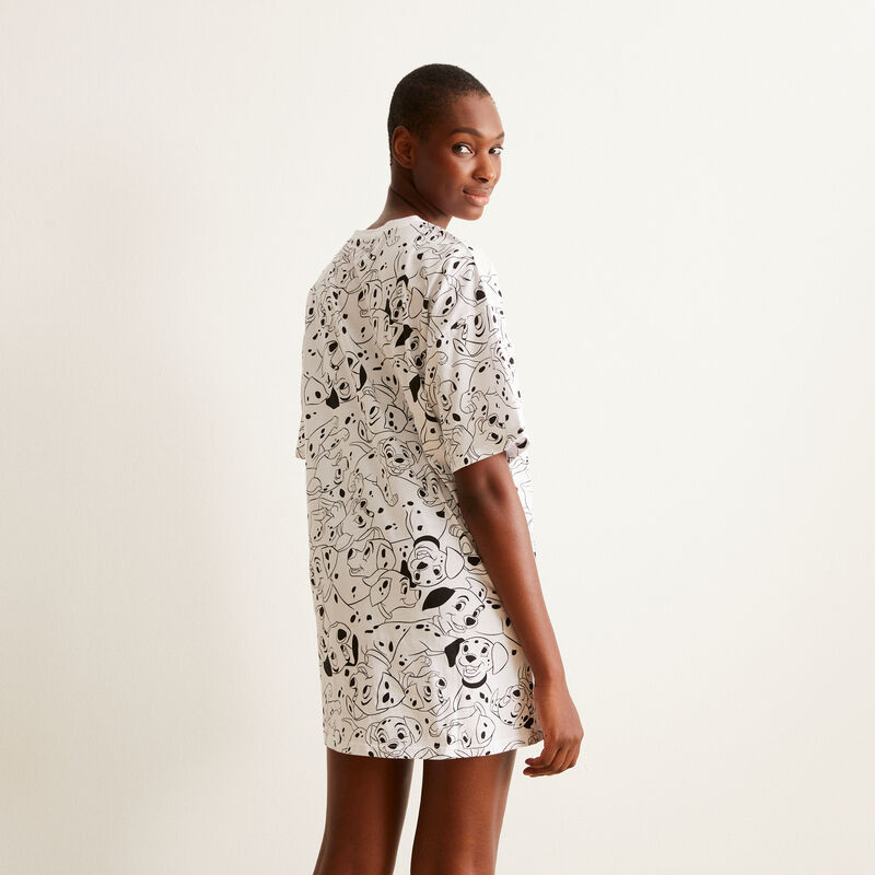 Camiseta larga con motivos de 101 dálmatas - blanca ;