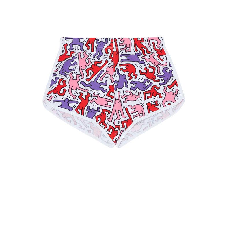 shorts con motivos - blanco;