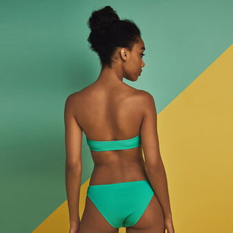 Braguita de bikini verde gaufriz groen.