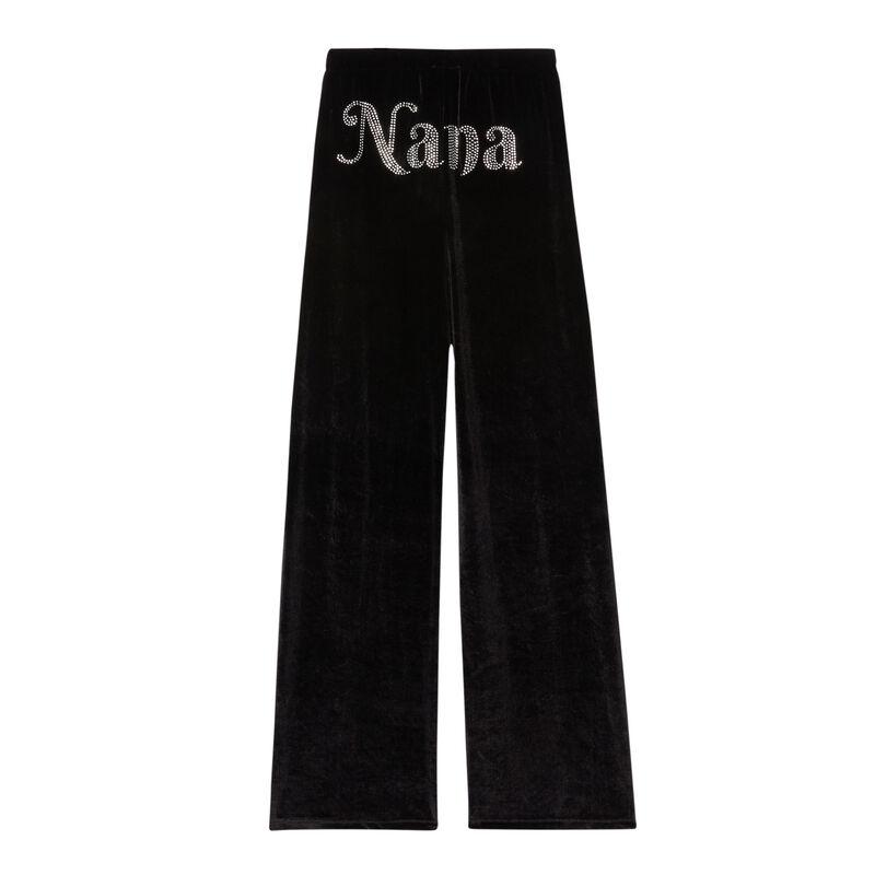 "Chándal ""nana"" Aya x undiz de terciopelo - negro;"