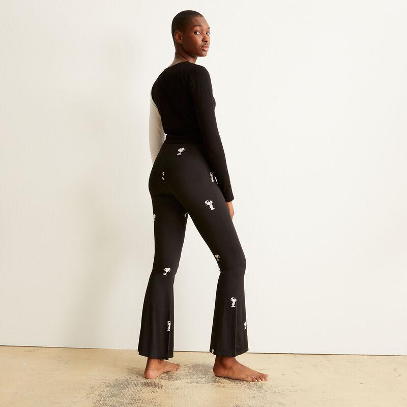 Pantalón con motivos de Snoopy - negro;