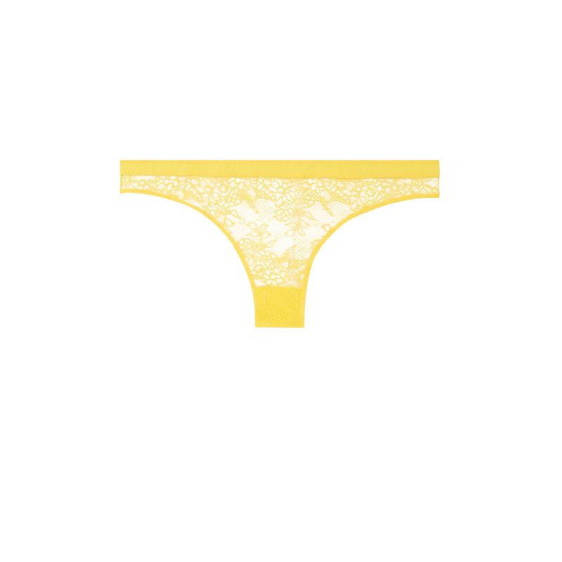Braguita brasileña de encaje - amarilla;