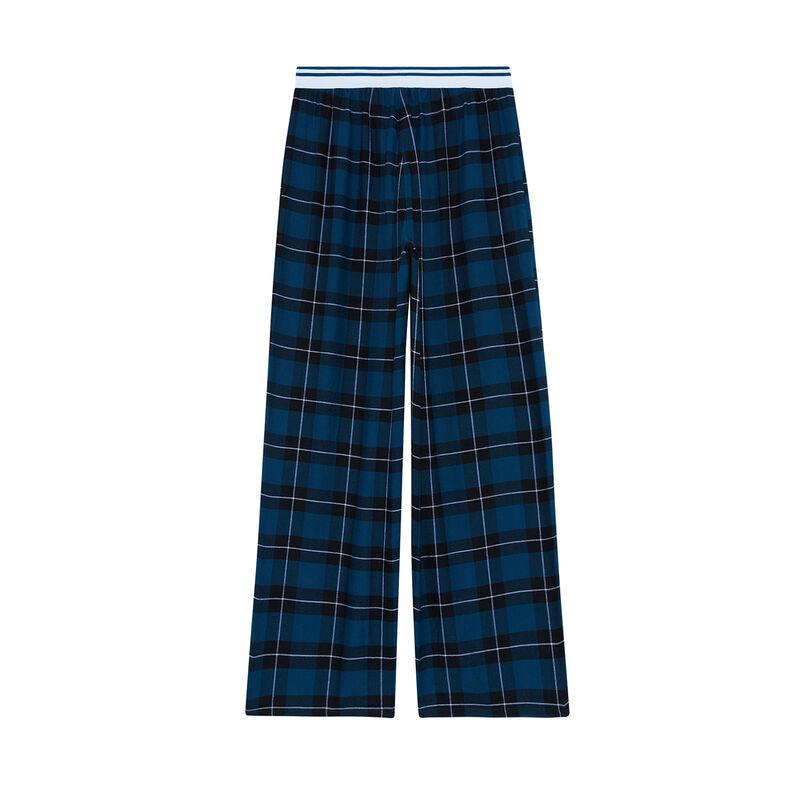 pantalón a cuadros - azul;