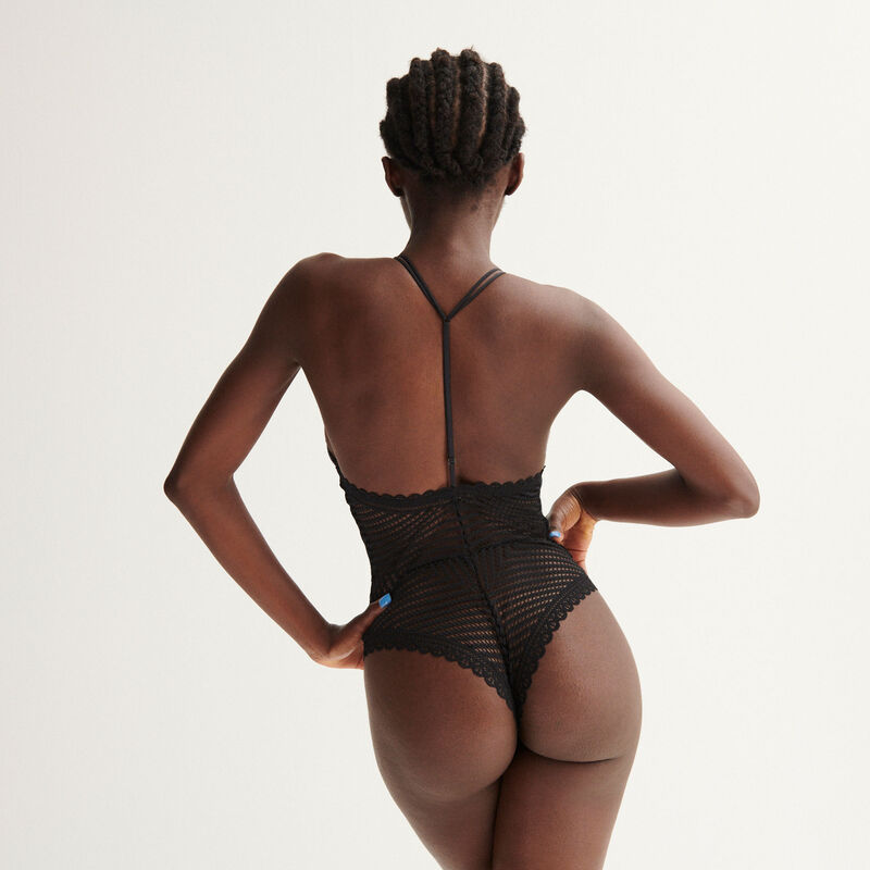 Body con anilla Aya x undiz - negro;