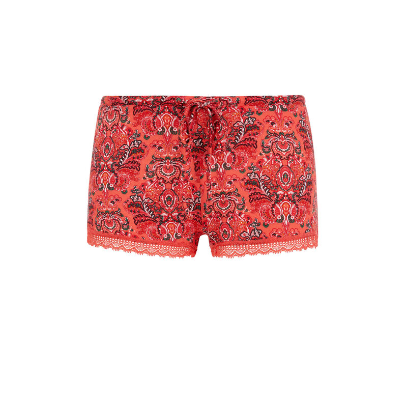 Shorts en coral vifleuriz;