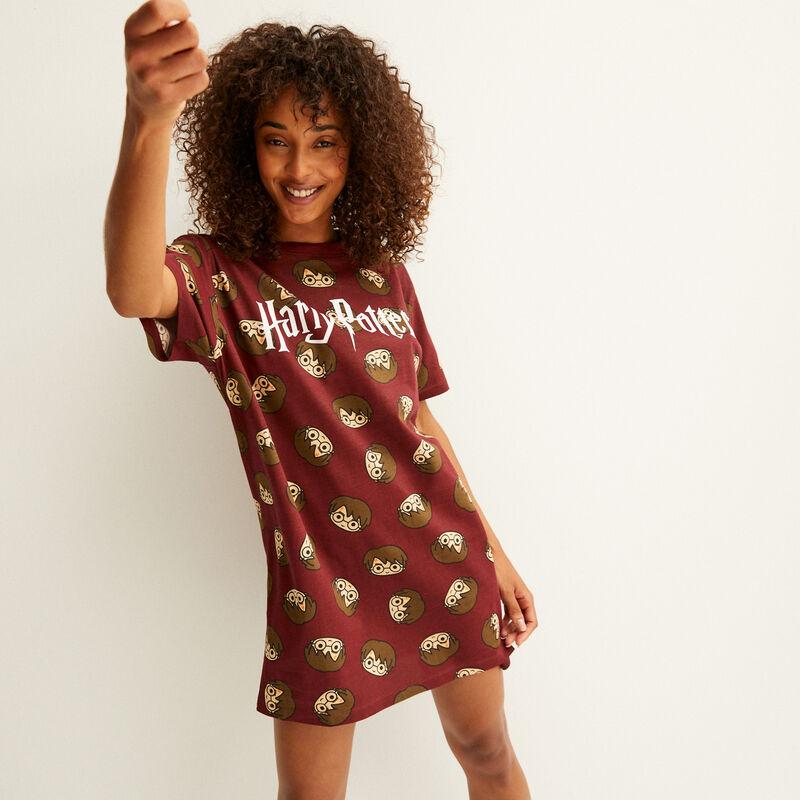 camiseta larga con motivos de Harry Potter - burdeos;