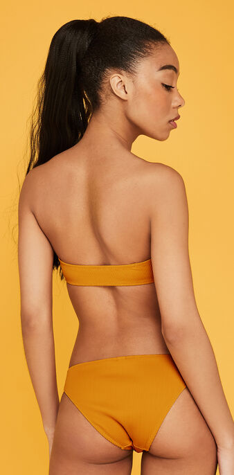 Bandeau color azafrán gaufriz yellow.