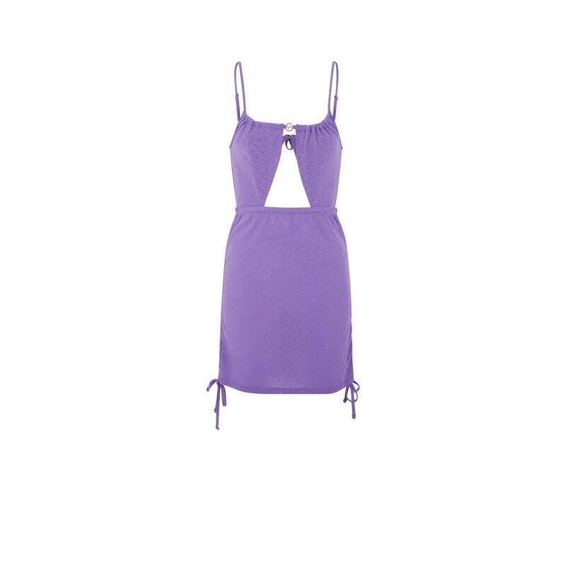 Vestido con abertura Nomril y bisutería - púrpura;