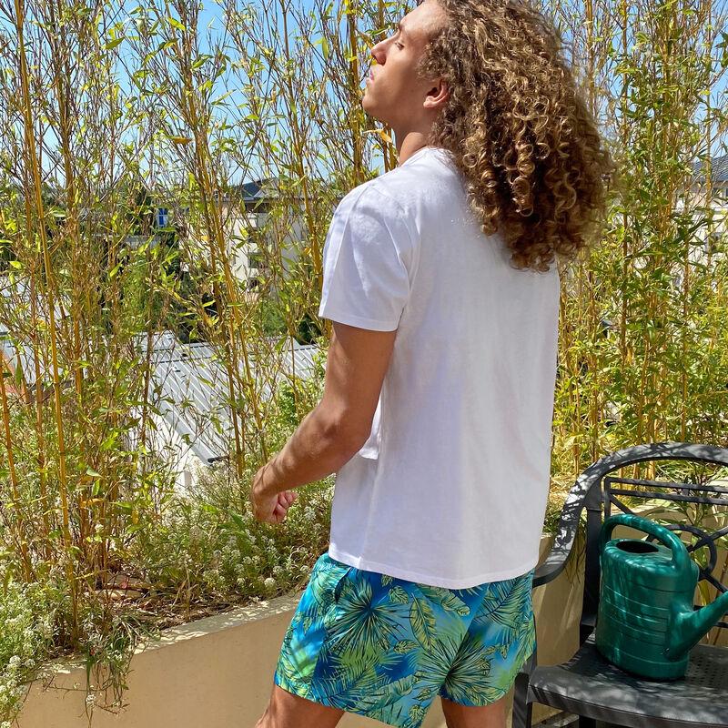 Shorts de baño para hombre - azul turquesa;