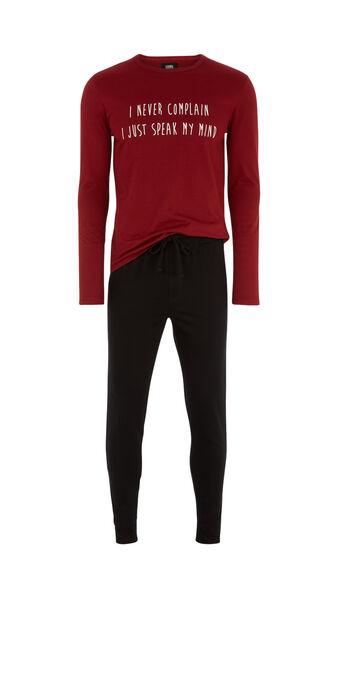 Conjunto de pijama burdeos raliz spain red.