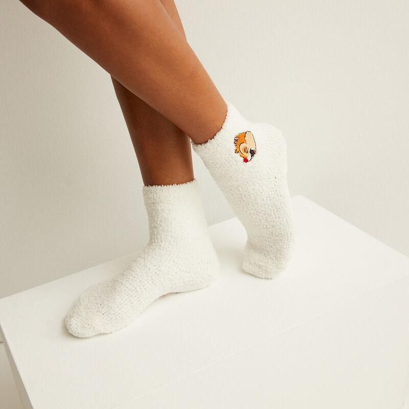calcetines de chip y chop - blanco;