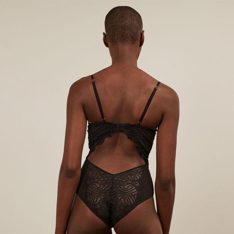 Body push-up de encaje - negro ;