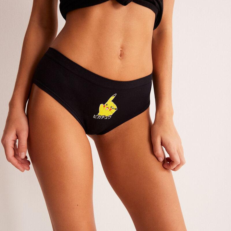 Braguita brasileña con estampado de Pikachu - negra;