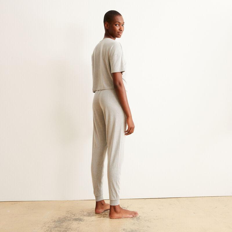 Pantalón acanalado - crudo;