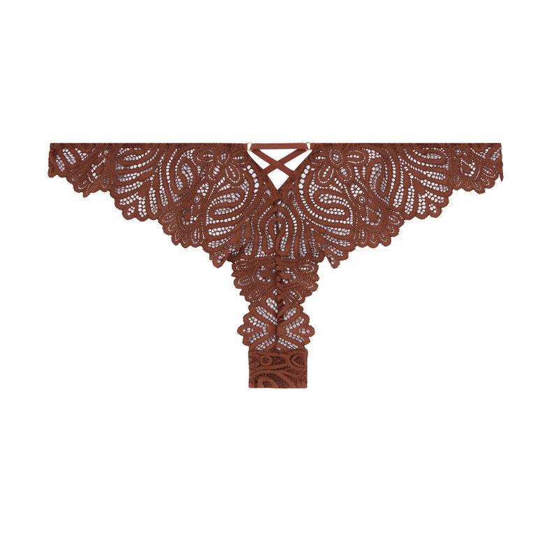 Braguita brasileña con detalles de lazos - marrón;
