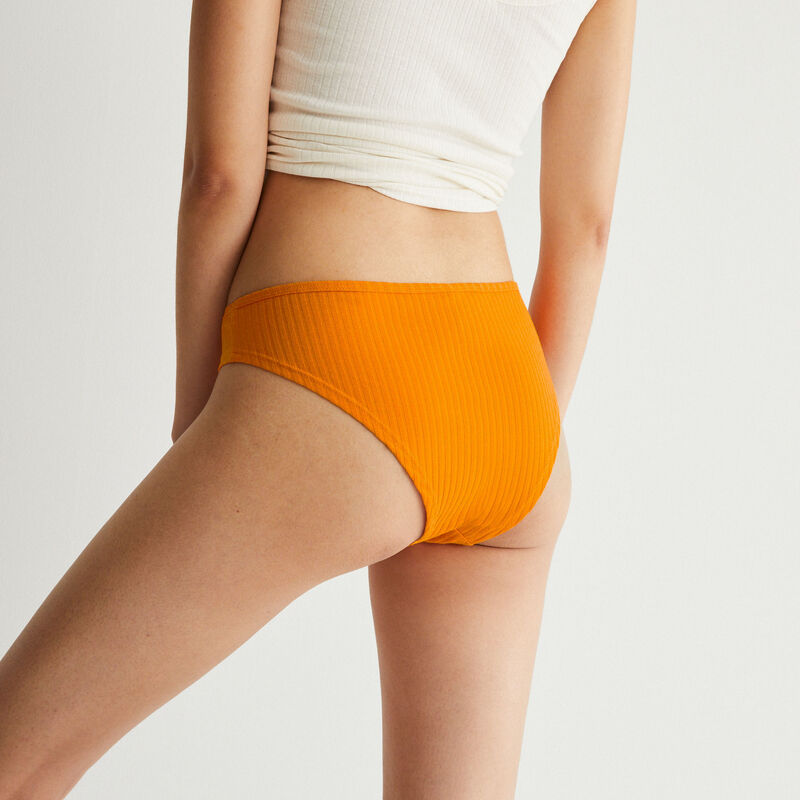 Braguita brasileña de algodón liso - naranja;