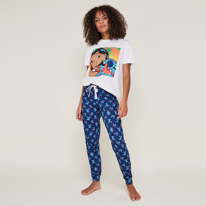 Pantalón con estampado de stitch stitchnuagiz;