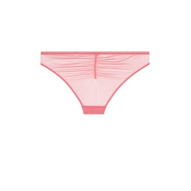 Braguita clásica embroderiz rosa;