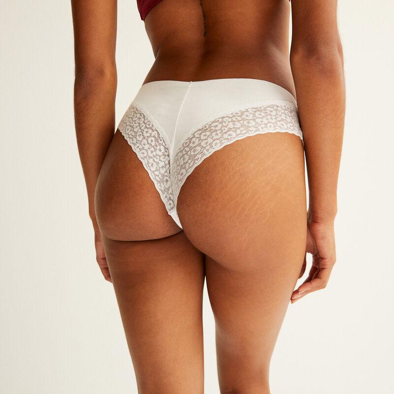 Braguita brasileña de algodón liso - blanco;