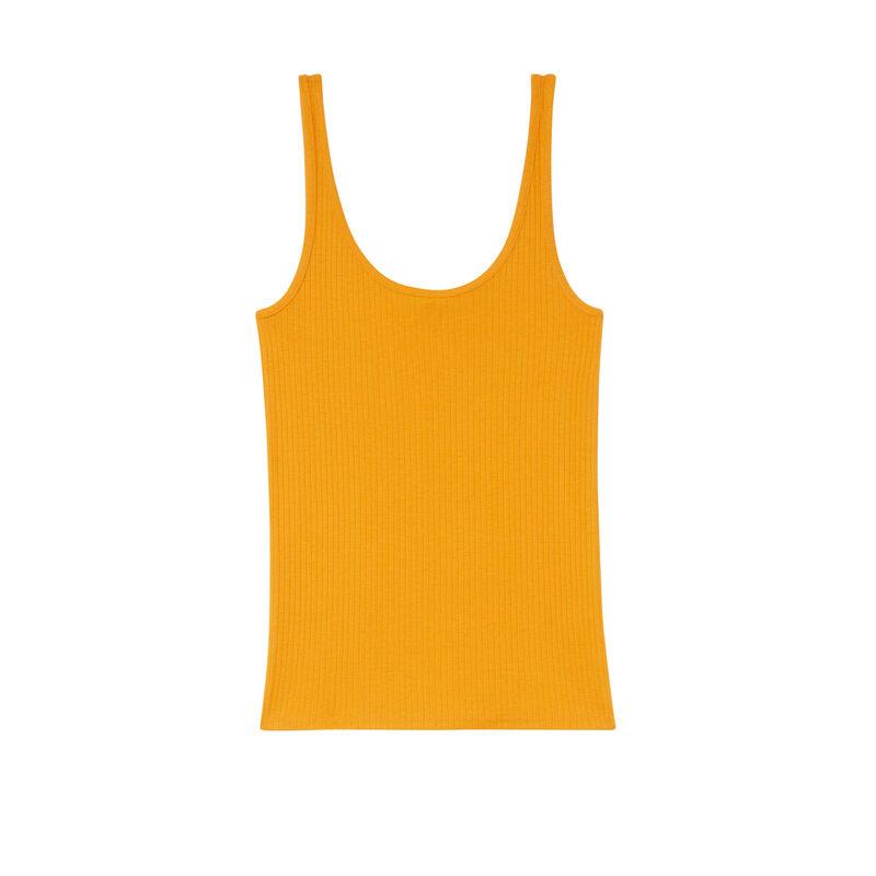 Camiseta sin tirantes de punto liso - mango;
