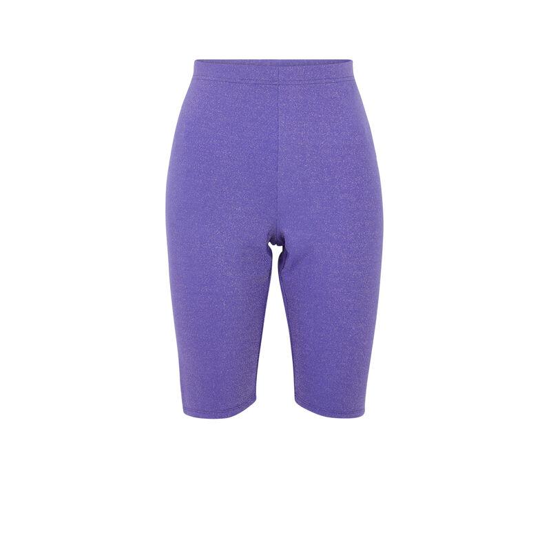 Pantalón de ciclista con hilos metalizados - violeta;
