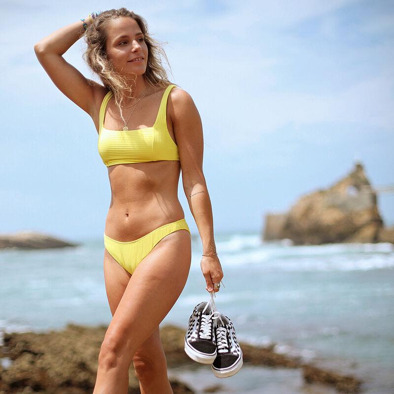 Parte de arriba de bikini sujetador - amarillo;