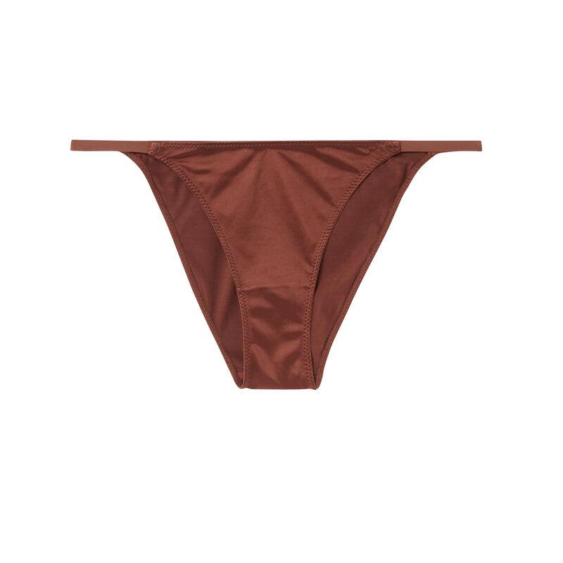 Braguita lisa de microfibra - marrón;