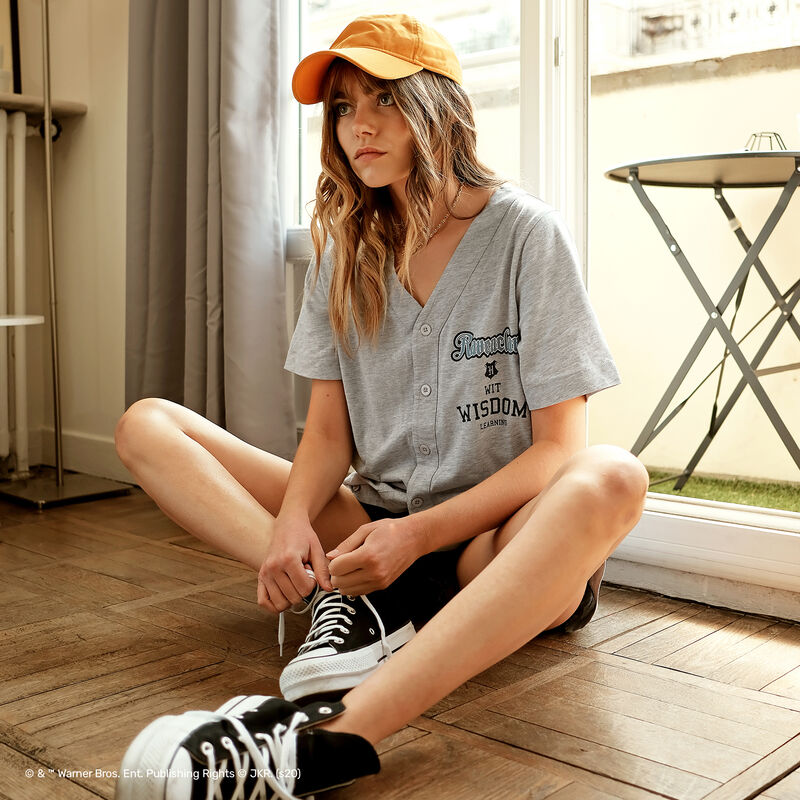 camiseta larga Ravenclaw - gris;