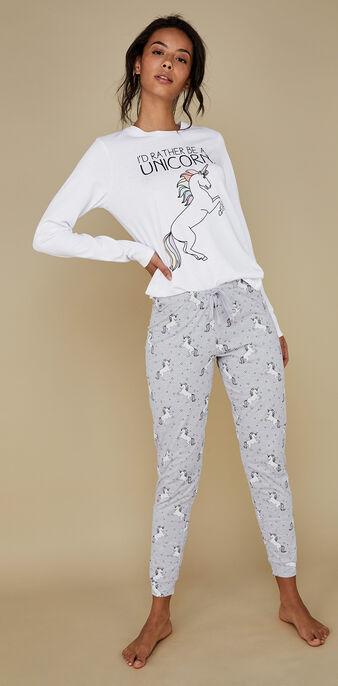 Set pyjama blanc intergangcorniz white.