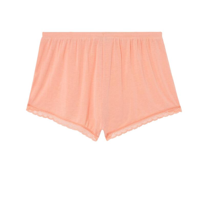 shorts lisos de punto - rosa;