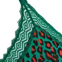 Sujetador triángulo verde esmeralda hindiz green.