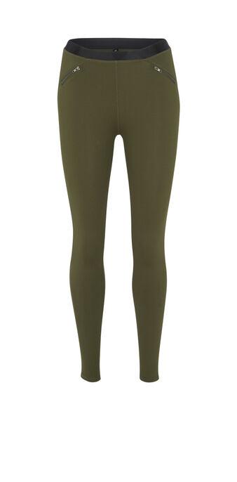 Legging caqui shinystelliz green.