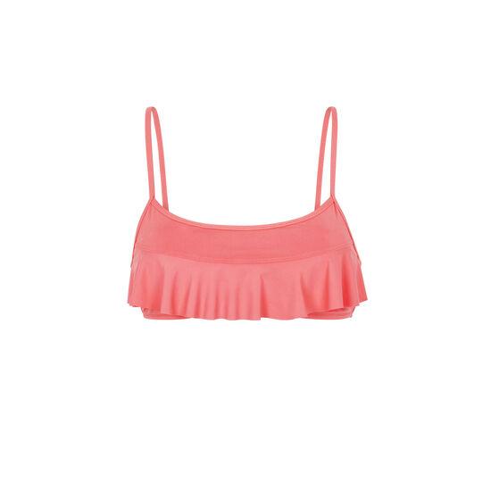 Parte de arriba de bikini bralette rosa sifnosiz;