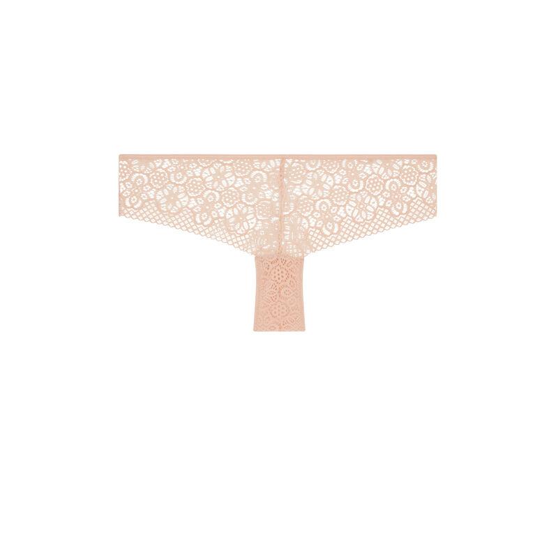 Braguita culotte de encaje con detalle de joya Ethnobiz;