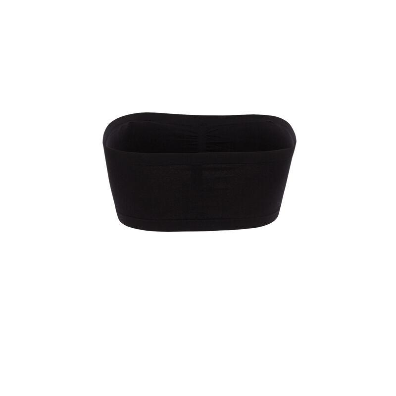 bandeau fruncido elástico - negro  ;