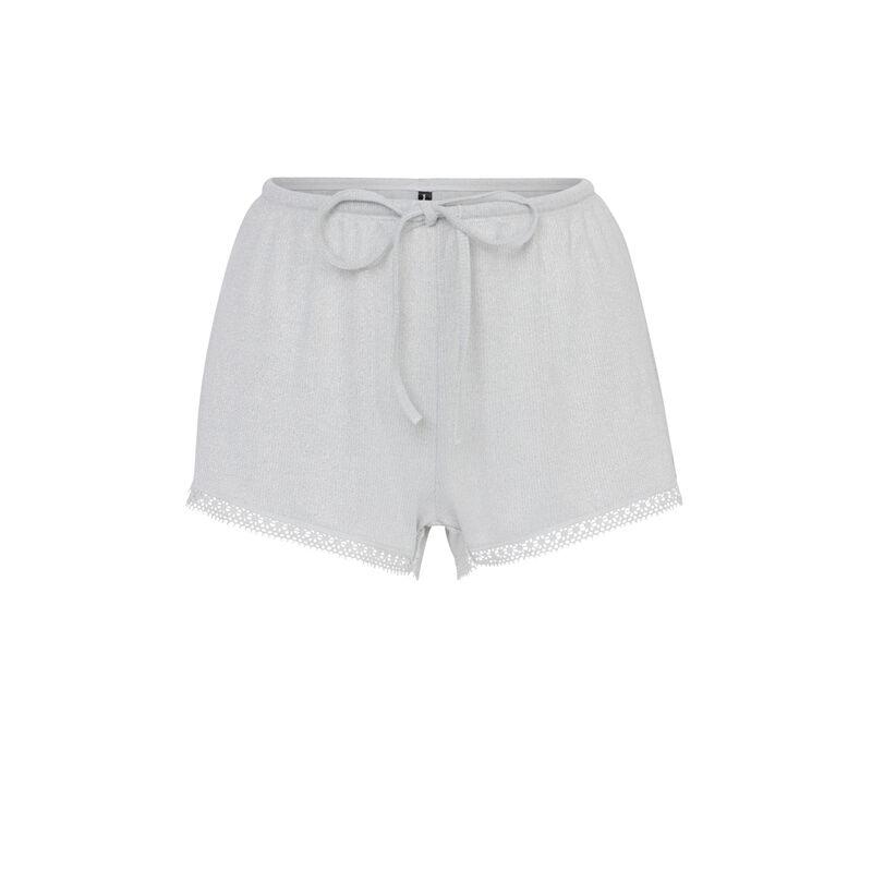 Shorts con cordón en la cintura - gris;